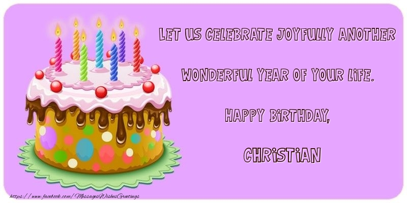 Let us celebrate joyfully another wonderful year of your life happy greetings cards for birthday let us celebrate joyfully another wonderful year of your life m4hsunfo