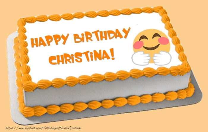 Happy Birthday Christina Cake Greetings Cards for Birthday for