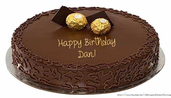 Greetings Cards for Birthday - Cake - Happy Birthday Dan!