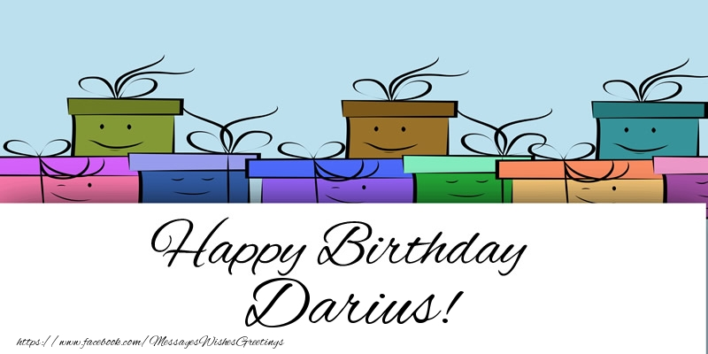 Greetings Cards for Birthday - Happy Birthday Darius!