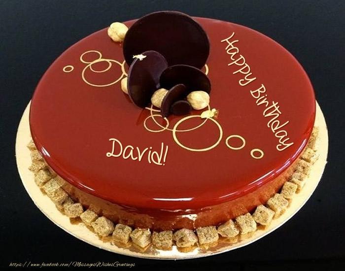 Cake Happy Birthday David Greetings Cards For Birthday For David