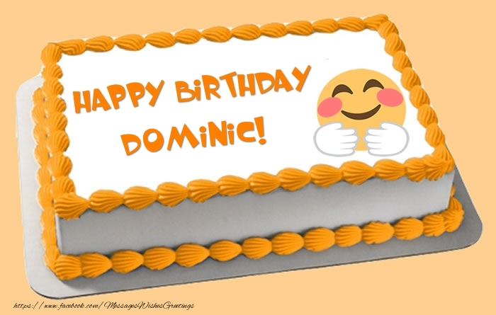 Greetings Cards for Birthday - Happy Birthday Dominic! Cake