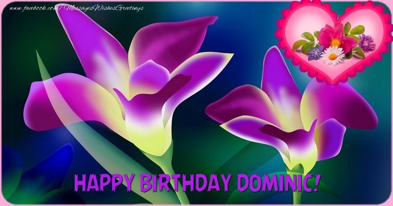 Greetings Cards for Birthday - Happy Birthday Dominic