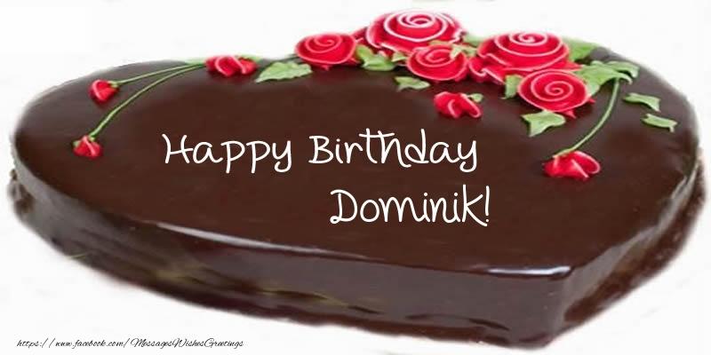 Greetings Cards for Birthday - Cake Happy Birthday Dominik!