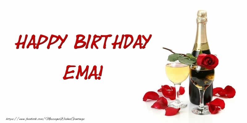 Greetings Cards for Birthday - Happy Birthday Ema