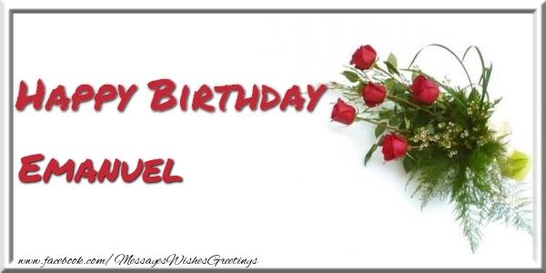 Greetings Cards for Birthday - Happy Birthday Emanuel