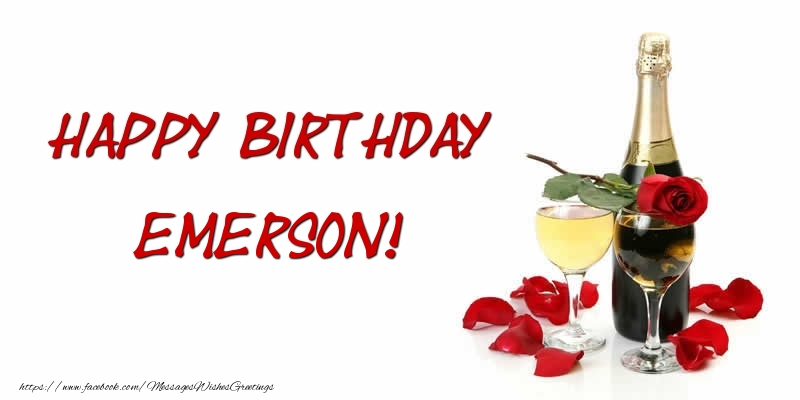 Greetings Cards for Birthday - Happy Birthday Emerson