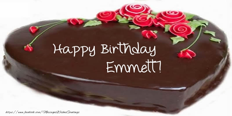 Greetings Cards for Birthday - Cake Happy Birthday Emmett!