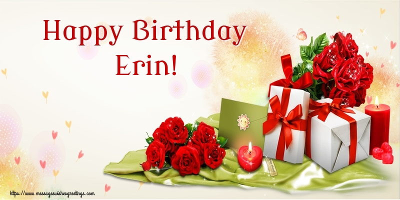 Greetings Cards for Birthday - Happy Birthday Erin!