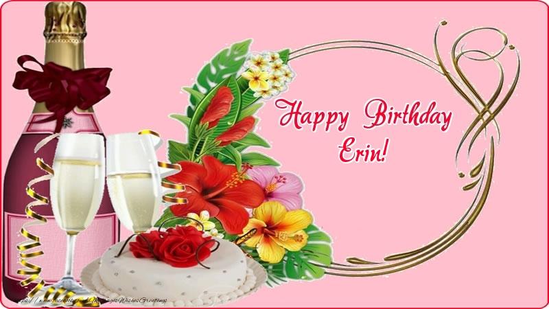 Greetings Cards for Birthday - Happy Birthday Erin!