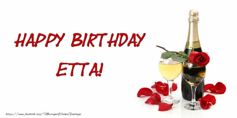 Greetings Cards for Birthday - Happy Birthday Etta