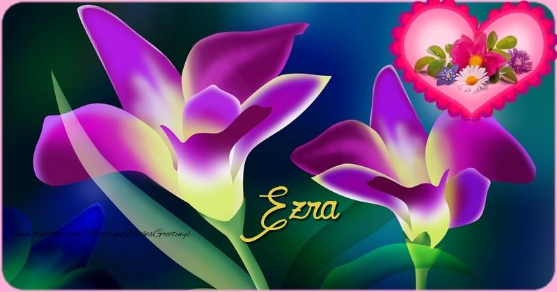 Greetings Cards for Birthday - Happy Birthday Ezra