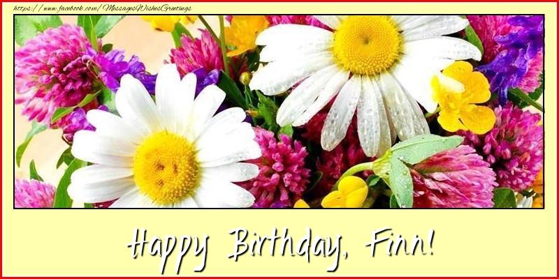 Greetings Cards for Birthday - Happy Birthday, Finn!