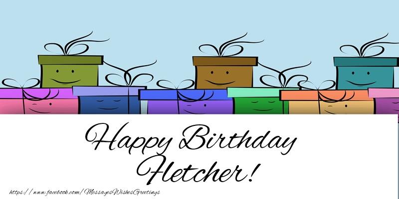 Greetings Cards for Birthday - Happy Birthday Fletcher!