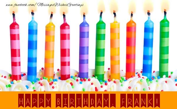 Greetings Cards for Birthday - Happy Birthday, Frank!