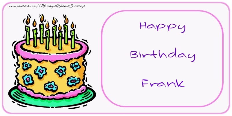 Greetings Cards for Birthday - Happy Birthday Frank