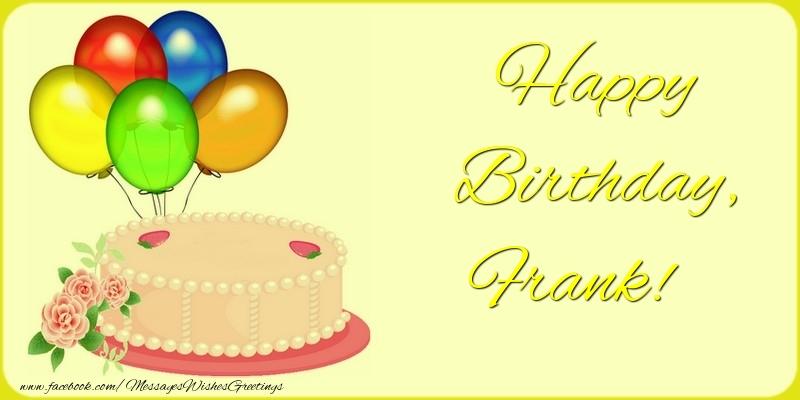 Greetings Cards for Birthday - Happy Birthday, Frank