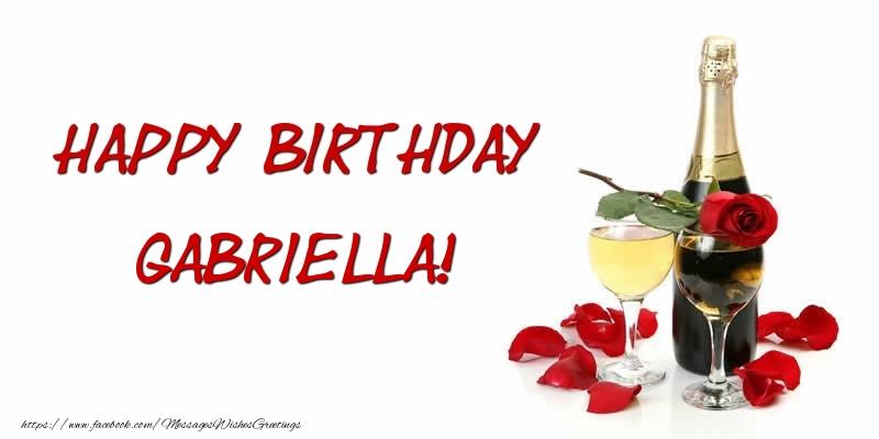 Greetings Cards for Birthday - Happy Birthday Gabriella