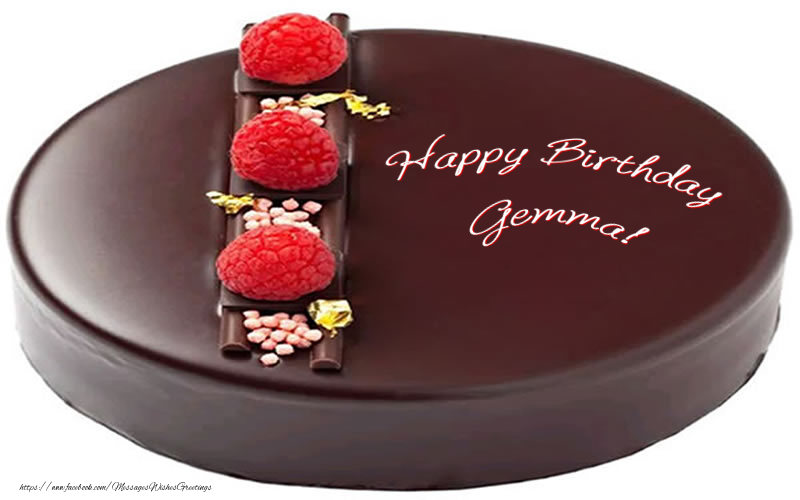 Greetings Cards for Birthday - Happy Birthday Gemma!