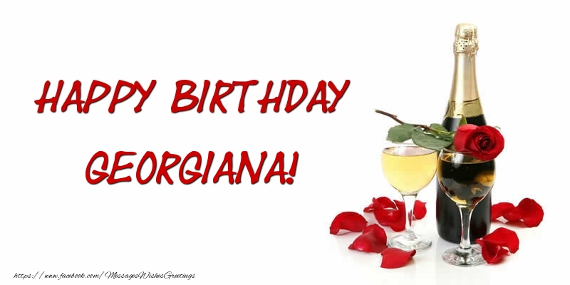 Greetings Cards for Birthday - Happy Birthday Georgiana