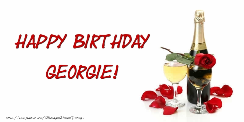 Greetings Cards for Birthday - Happy Birthday Georgie