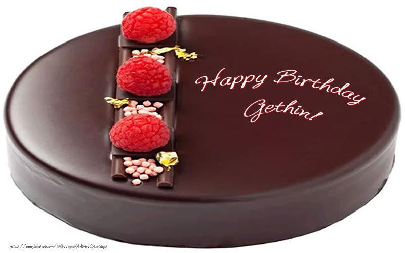 Greetings Cards for Birthday - Happy Birthday Gethin!