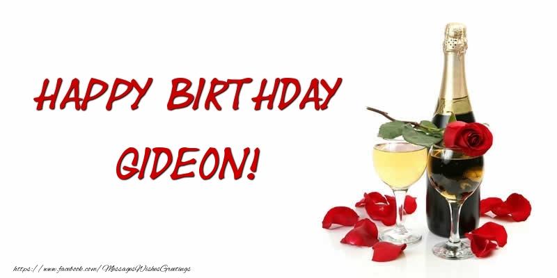 Greetings Cards for Birthday - Happy Birthday Gideon