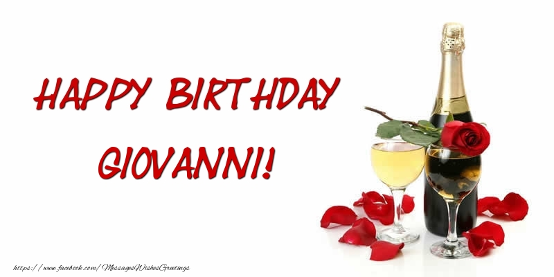 Greetings Cards for Birthday - Happy Birthday Giovanni