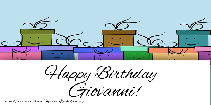 Greetings Cards for Birthday - Happy Birthday Giovanni!