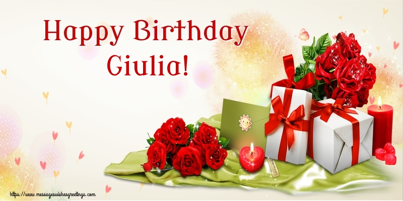 Greetings Cards for Birthday - Happy Birthday Giulia!
