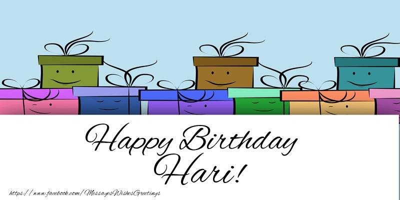 Greetings Cards for Birthday - Happy Birthday Hari!