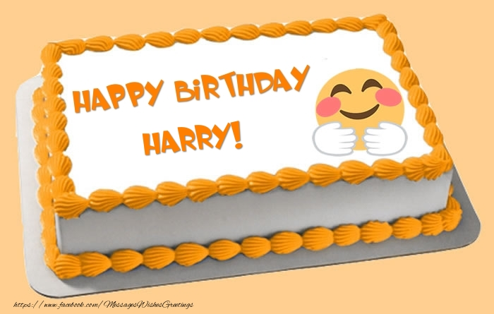 Greetings Cards for Birthday - Happy Birthday Harry! Cake