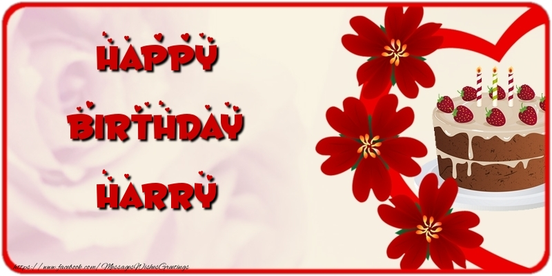 Greetings Cards for Birthday - Happy Birthday Harry