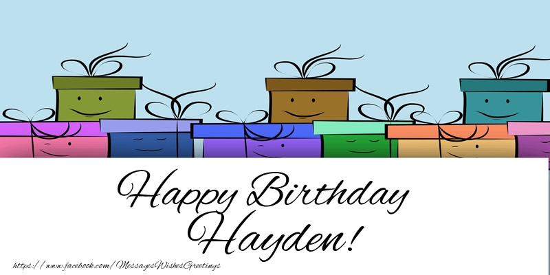 Greetings Cards for Birthday - Happy Birthday Hayden!
