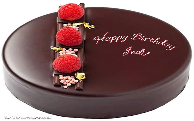 Greetings Cards for Birthday - Happy Birthday Indi!