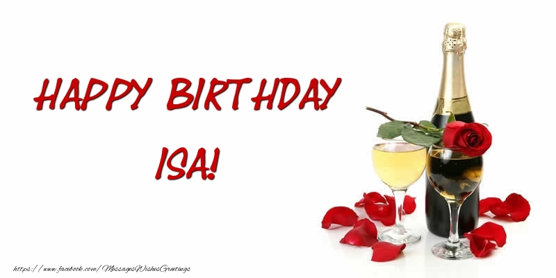Greetings Cards for Birthday - Happy Birthday Isa
