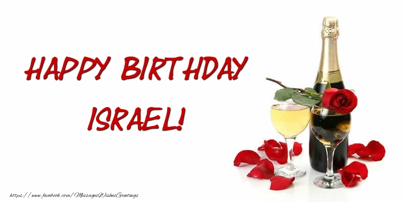 Greetings Cards for Birthday - Happy Birthday Israel