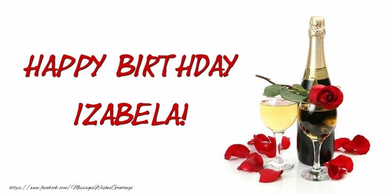 Greetings Cards for Birthday - Happy Birthday Izabela