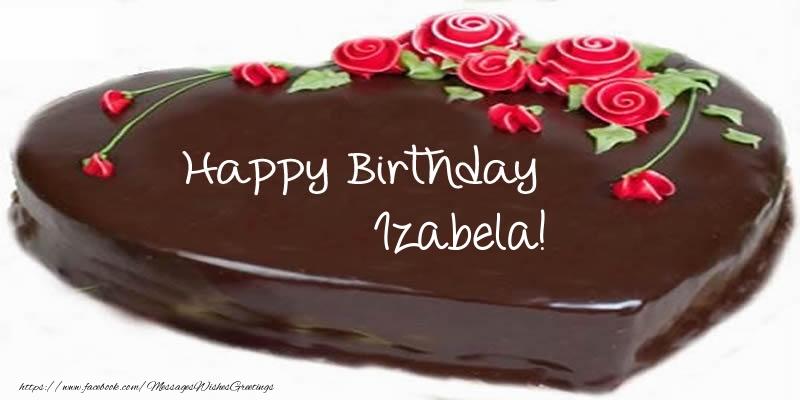 Greetings Cards for Birthday - Cake Happy Birthday Izabela!