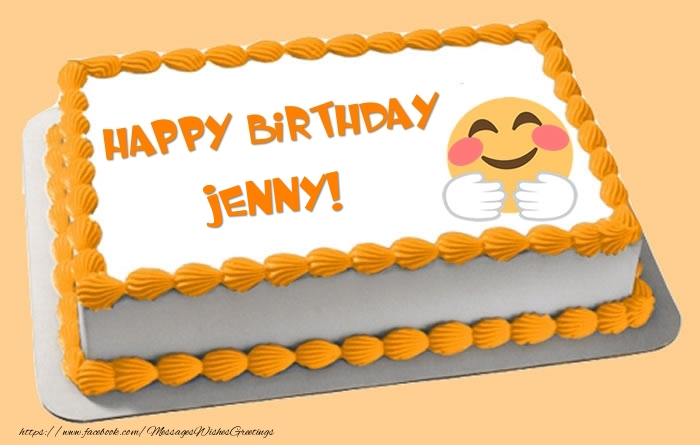 Cake Happy Birthday Jenny Greetings Cards for Birthday for Jenny