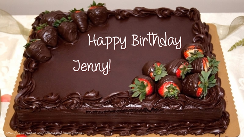 Happy Birthday Jenny Cake Greetings Cards for Birthday for