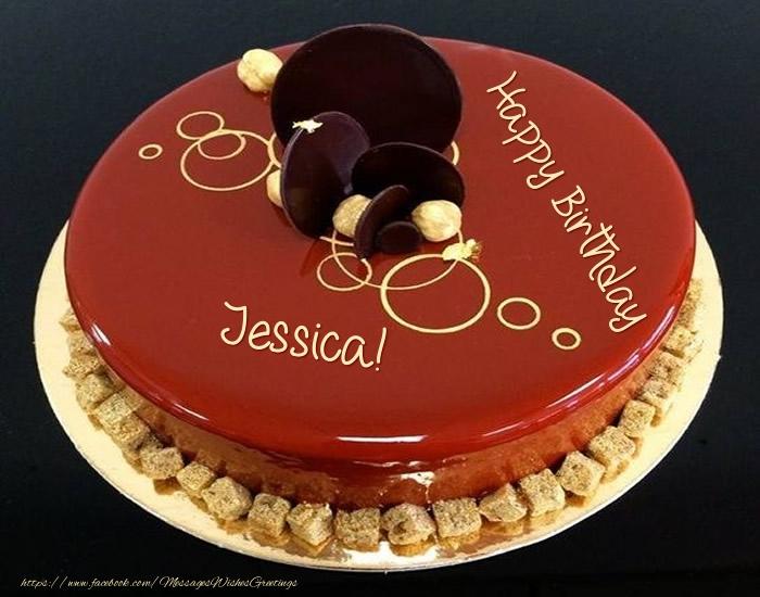 Awe Inspiring Cake Happy Birthday Jessica Greetings Cards For Birthday For Funny Birthday Cards Online Alyptdamsfinfo