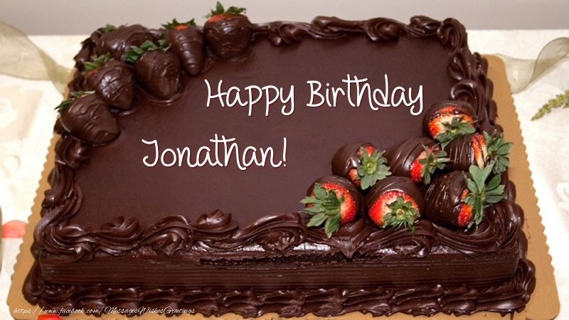 Happy Birthday Jonathan Cake Greetings Cards For Birthday For