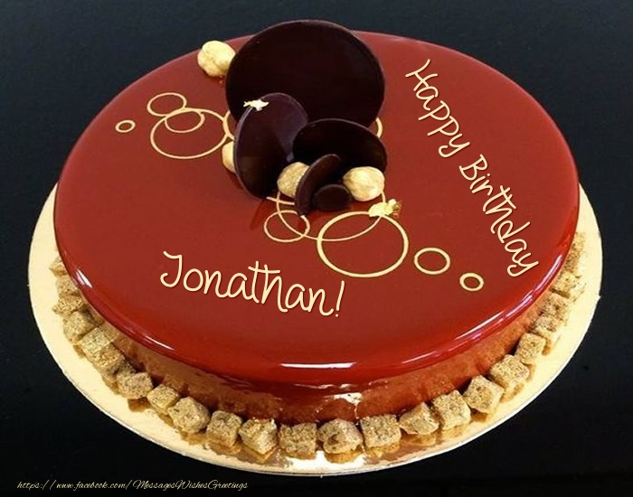 Cake Happy Birthday Jonathan Greetings Cards For Birthday For