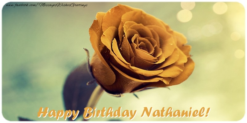 Happy Birthday Nathaniel Cake Animated