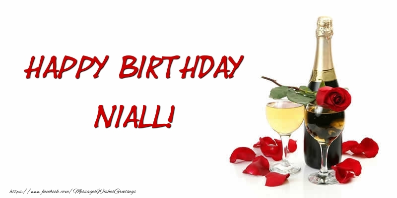 Greetings Cards for Birthday - Happy Birthday Niall