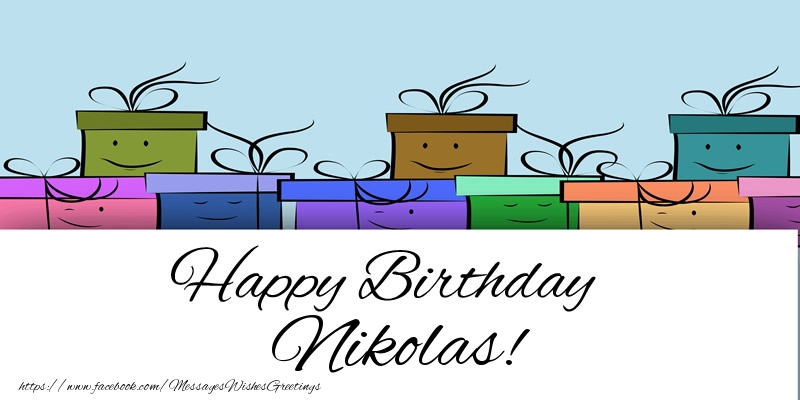 Greetings Cards for Birthday - Happy Birthday Nikolas!
