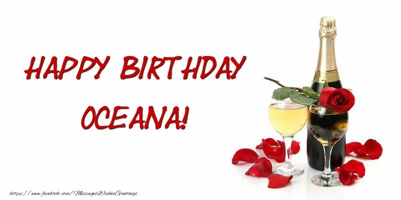 Greetings Cards for Birthday - Happy Birthday Oceana