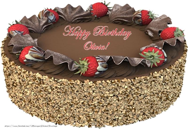 Greetings Cards for Birthday - Happy Birthday Olivia!
