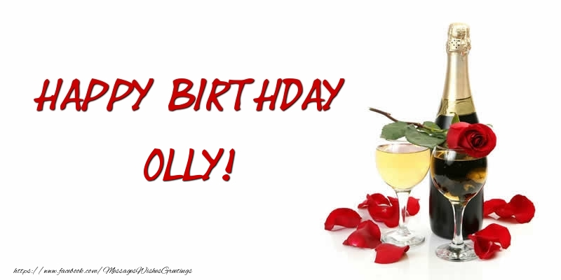 Greetings Cards for Birthday - Happy Birthday Olly